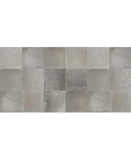 Carrelage imitation béton ciré mat dénuancé 80x80cm rectifié, savinnova ferro