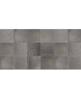 Carrelage imitation béton ciré mat dénuancé 80x80cm rectifié, savinnova graphite