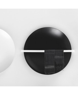 Sèche-serviette électrique design contemporain avec barre porte-serviettes salle de bain Antsaturne de couleur