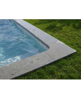 Margelle pierre du limeyrat grise épaisseur 5cm longueur libre