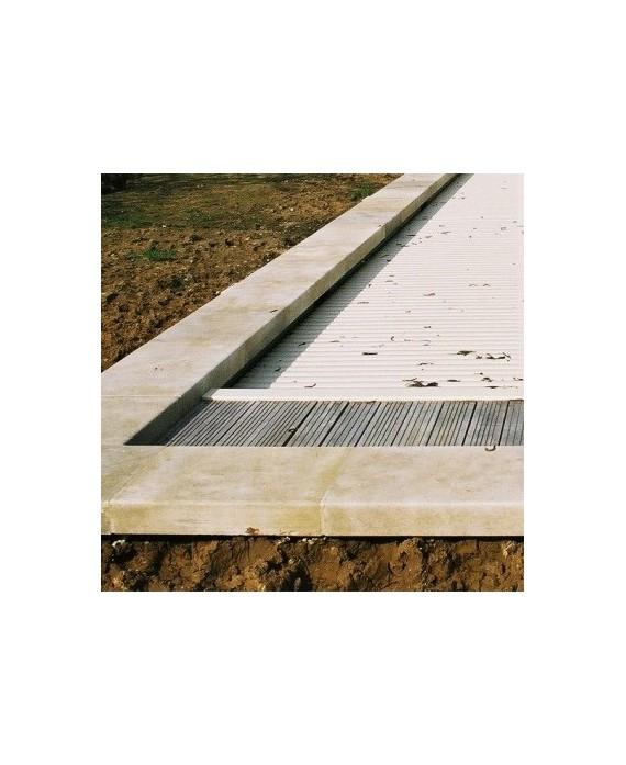 Margelle pierre du limeyrat claire épaisseur 8cm, longueur libre.