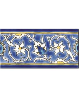 Frise brillante décorée 10x20x0.8cm peinte à la main, D baghdad