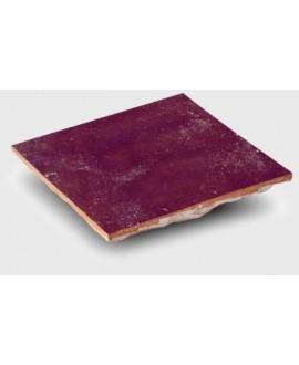 carrelage en terre cuite zellige marron 10x10x1.1cm