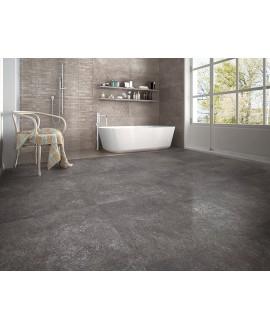 Carrelage imitation béton et résine gris foncé mat, 80x80cm rectifié, pastsentimento anthracite