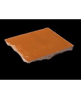 carrelage en terre cuite zellige orange 10x10x1,1cm