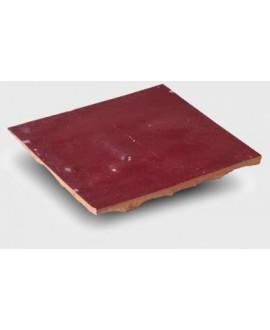 carrelage en terre cuite zellige pourpre 10x10x1,1cm