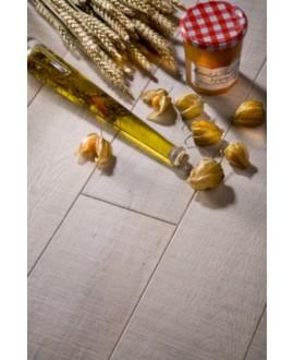 parquet massif en chêne scié blanchi, ép : 21mm, largeur 190 mm