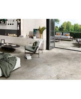 Carrelage terrasse, imitation pierre grise anti-dérapant XXL 100x100cm rectifié, R11 A+B+C, porce1916 baltimore gris