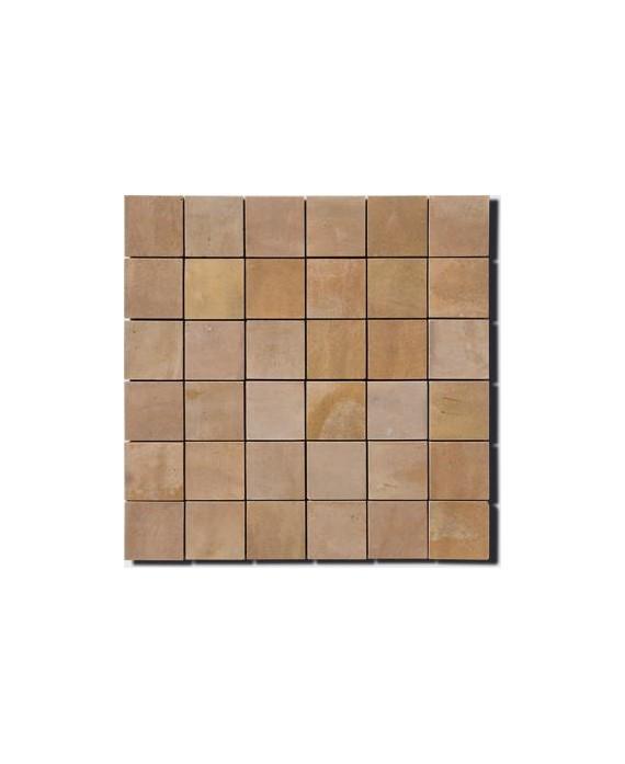 Mosaique zellige crédence cuisine salle de bain D 5x5cm grege sur trame 30x30cm