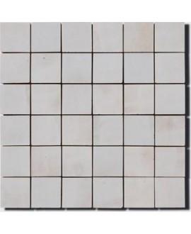 Mosaique crédence cuisine salle de bain D zellige 5x5cm gris clair sur trame 30x30cm