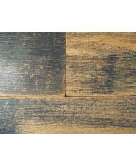 Parquet anthracite chêne massif loft gris anthracite, plancher bois français grande largeur épaisseur 21 mm, largeur 190 mm