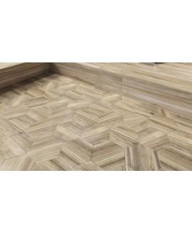 Carrelage sol et mur hexagonal effet bois clair, mur et sol, patchwork, 21x18,2cm apehexawork W naturel