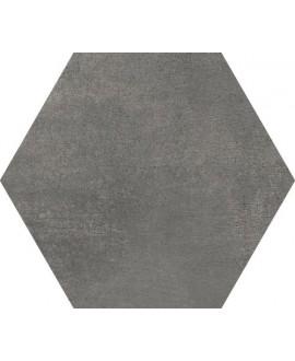 Carrelage hexagonal en grès cérame émaillé imitation ciment 21x18,2cm apehexawork coal
