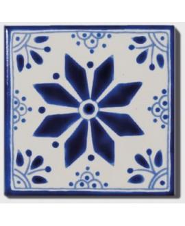 carrelage décor aluma 10x10cm peint à la main
