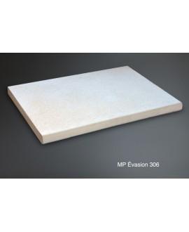 Margelle plate en pierre reconstituée blanche 50x40x3.8cm contemporaine evasion 306