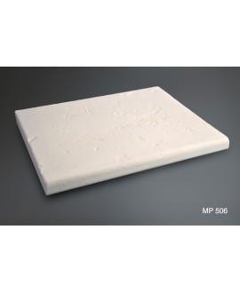 Margelle plate en pierre reconstituée blanche 50x40x3.8cm vieillie fontvieille 506