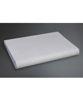 Margellegalbée en pierre reconstituée blanche 50x33x5x3cm contemporaine évasion 306