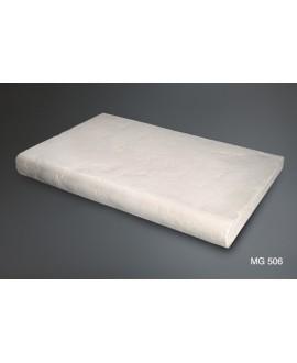 Margelle galbée en pierre reconstituée blanche 50x33x5x3cm vieillie fontvieille 506