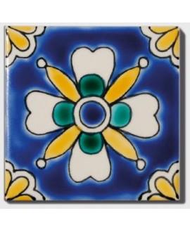 carrelage décor avoda 10x10cm peint à la main