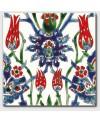 Carrelage décoré à la main 20x20cm D cyrine rouge oriental