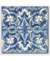 Carrelage peint à la main décor oriental 20x20cm D baghdad fond ivoire
