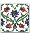Carrelage peint à la main décor oriental 20x20x0.8cm D izmir vert