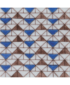 Carrelage décoré à la main émail craquelé D sbeitla bleu 10x10x1cm peint à la main