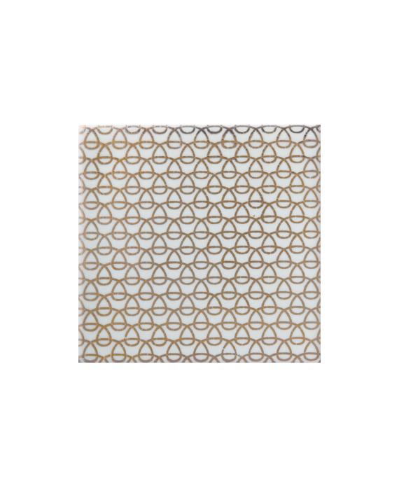 Carrelage peint à la main avec fil en or décor japonais 10x10x1cm D mayko or