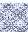 Carrelage peint à la main inspiration japonaise 10x10x1cm D ayumi bleu et or