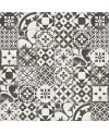 Carrelage imitation carreau ciment patchwork traditionnel 20x20cm, V Berkane negro