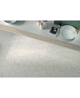 Carrelage hexagone imitation granito blanc mat tomette 23x27cm, duresix terrazzo talk