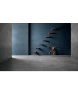 Carrelage imitation béton ou résine mat, intérieur contemporain, XXL 120x120cm rectifié, santaset grey