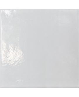 Carrelage émail craquelé blanc 20x20x1.1cm peint à la main D