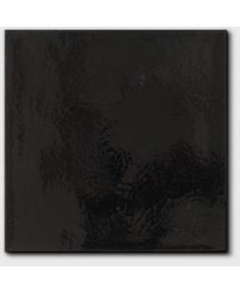 Carrelage émail craquelé noir 20x20x1.1cm peint à la main D