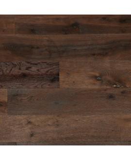 Parquet chêne brossé à la main rustique foncé contrecollé, grande largeur 190 mm lalbi vintage