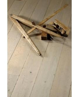 Parquet vieilli contrecollé chêne gris clair huilé plancher ancien top 3.2mm largeur 140, 170,190mm PA18 CDE