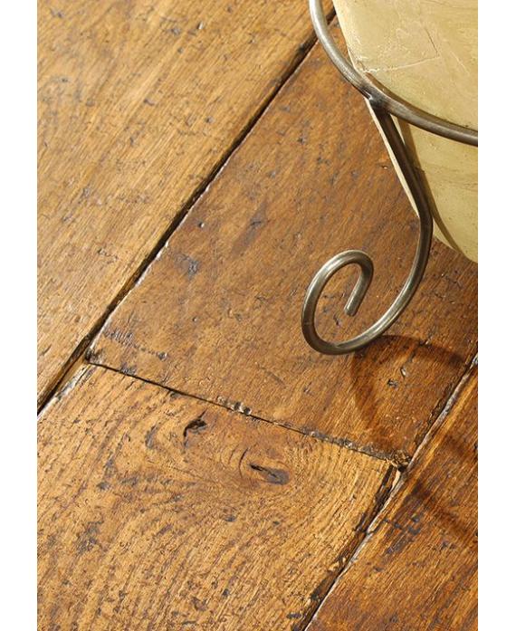 Parquet à fixer sur lambourde ancien massif en chêne vieilli doré antique , 21 mm, largeur 190 mm