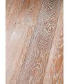 Parquet vieilli cérusé massif en chêne forte épaisseur marengo, grande largeur 190 mm