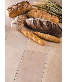 Parquet ancien massif en chêne vieilli finition plancher du boulanger, forte épaisseur 21mm largeur 190 mm