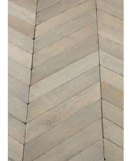 Parquet point de hongrie à poser sur lambourde chêne massif français vieilli vieux gris , ép : 21 mm largeur 80 et 110mm