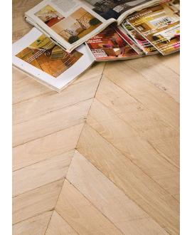 Parquet blanchi point de hongrie ancien chêne massif français vieilli plancher du boulanger, ép : 14 mm , largeur 80 et 110mm