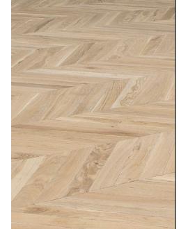 Parquet point de hongrie clair à poser sur lambourde chêne massif vieilli plancher du boulanger, ép : 21 mm largeur 80 et 110mm
