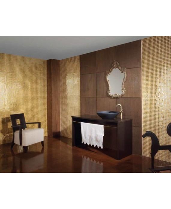 emaux de verre piscin mosaique salle de bain métalico doré 2.5x2.5 cm