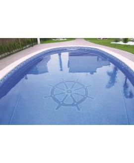 Emaux de verre bleu soutenu nuancé piscine mosaique salle de bain mosbr-2005 2.5x2.5 cm