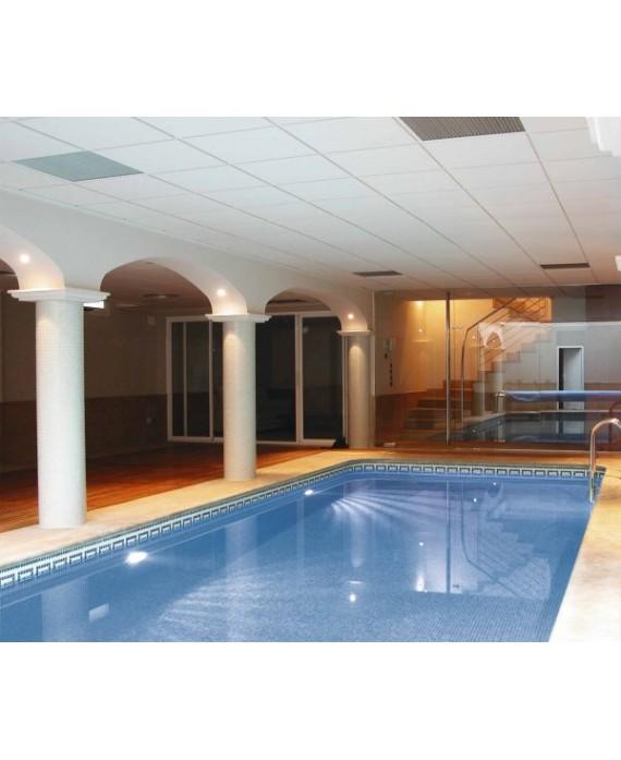 Emaux de verre piscine bleu nuancé mosaique salle de bain mosbr-2001 2.5x2.5cm sur trame