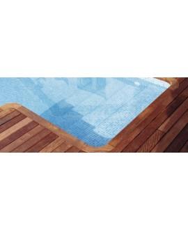 Emaux de verre bleu clair nuancé piscine mosaique salle de bain mosbr-2003 antidérapant sur trame 2.5x2.5x0.4cm