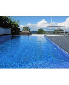 Emaux de verre bleu foncé piscine mosaique salle de bain mosbr-2004 2.5x2.5x0.4cm sur trame.