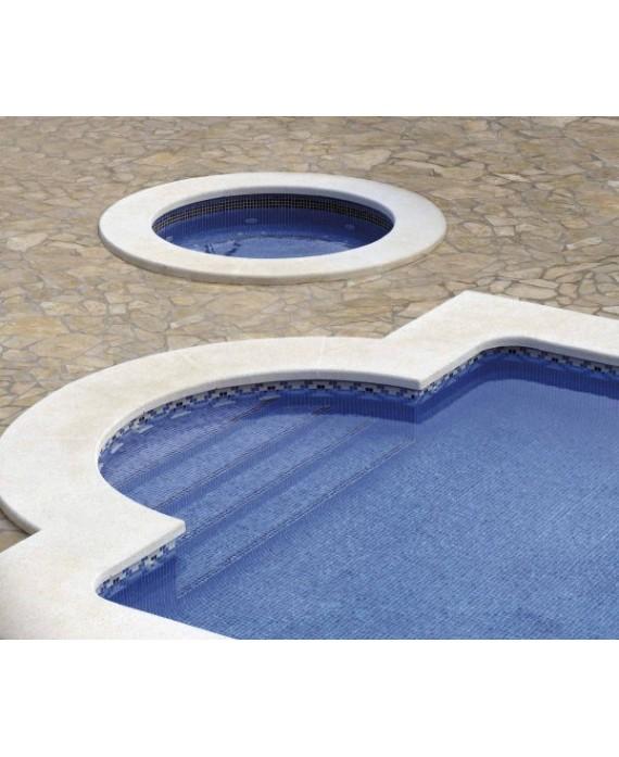 Emaux de verre piscine bleu foncé mosaique salle de bain mosbr-2004 antidérapant 2.5x2.5x0.4 cm sur trame.