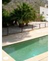 Emaux de verre jaune antidérapant pour les marches de la piscine br-5001 2.5x2.5x0.4cm sur trame.