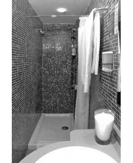 Emaux de verre piscine noir nuancé mosaique salle de bain mosbr-9001 2.5x2.5x0.4cm sur trame.